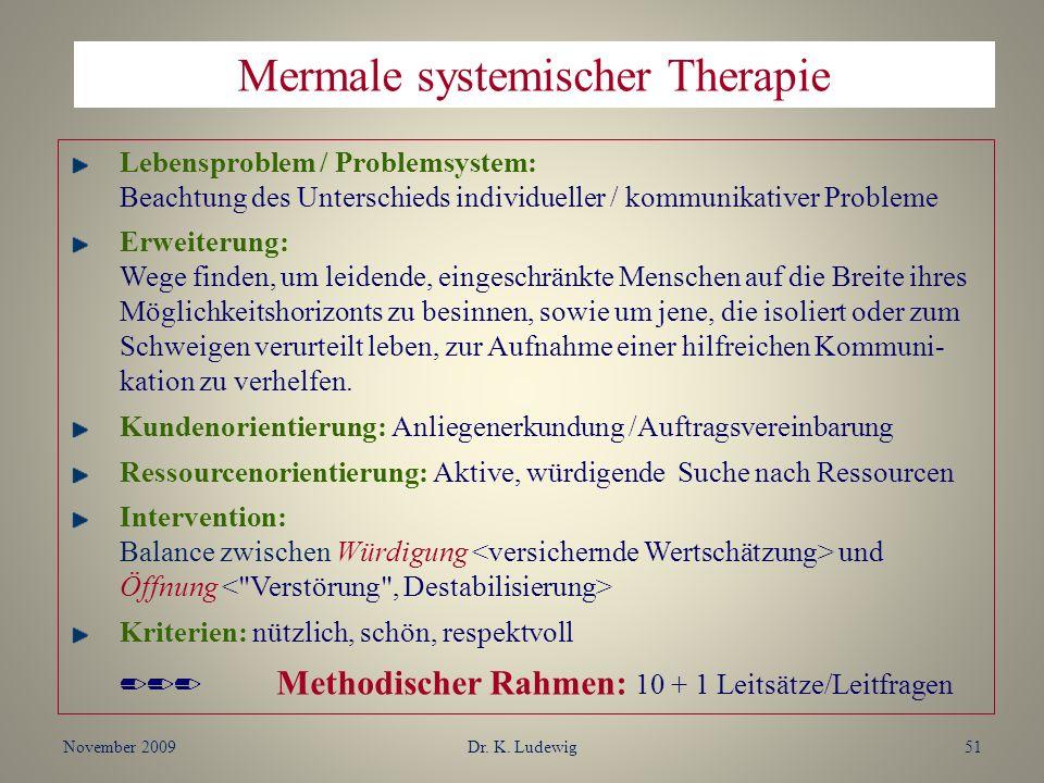 Mermale systemischer Therapie