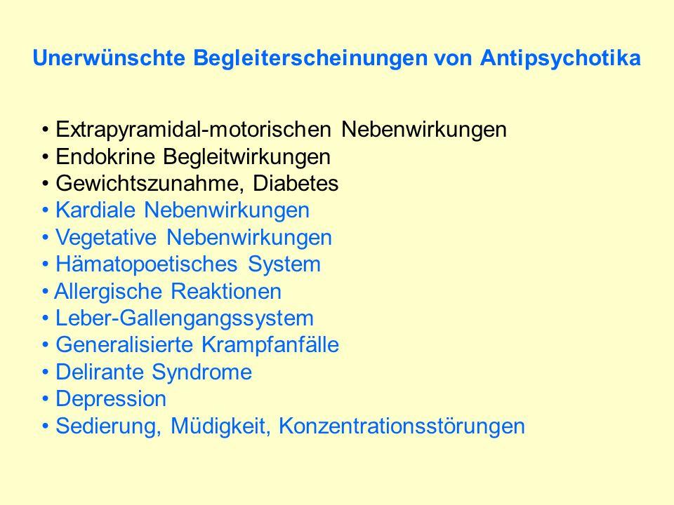 Unerwünschte Begleiterscheinungen von Antipsychotika