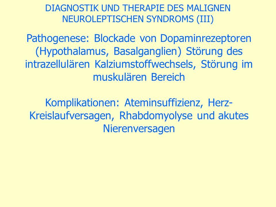 DIAGNOSTIK UND THERAPIE DES MALIGNEN
