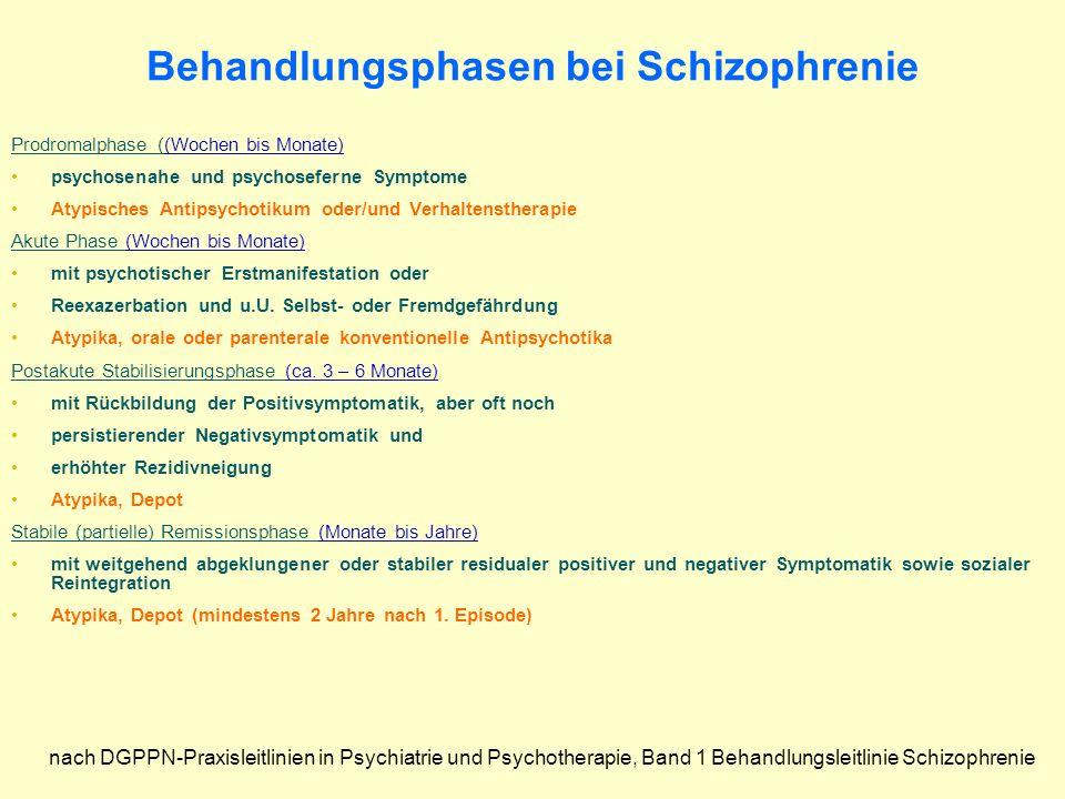 Behandlungsphasen bei Schizophrenie