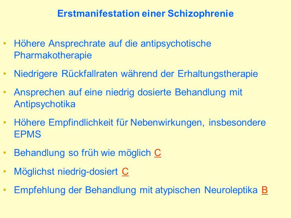 Erstmanifestation einer Schizophrenie
