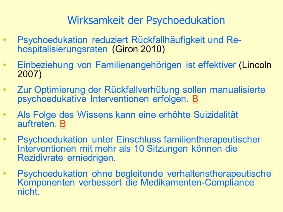 Wirksamkeit der Psychoedukation