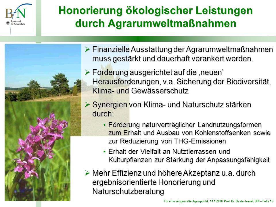 Honorierung ökologischer Leistungen durch Agrarumweltmaßnahmen