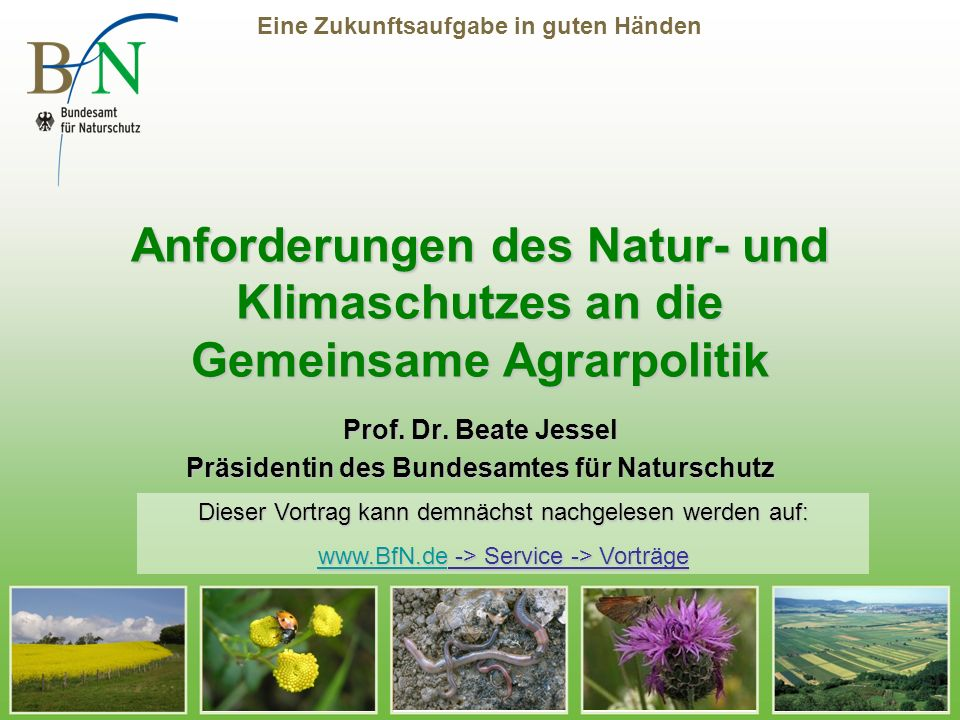 Prof. Dr. Beate Jessel Präsidentin des Bundesamtes für Naturschutz