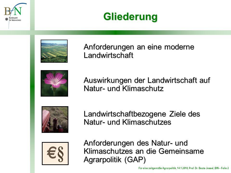Gliederung Anforderungen an eine moderne Landwirtschaft