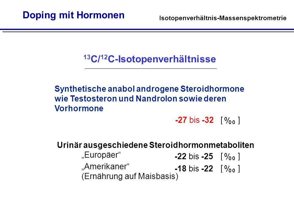 13C/12C-Isotopenverhältnisse