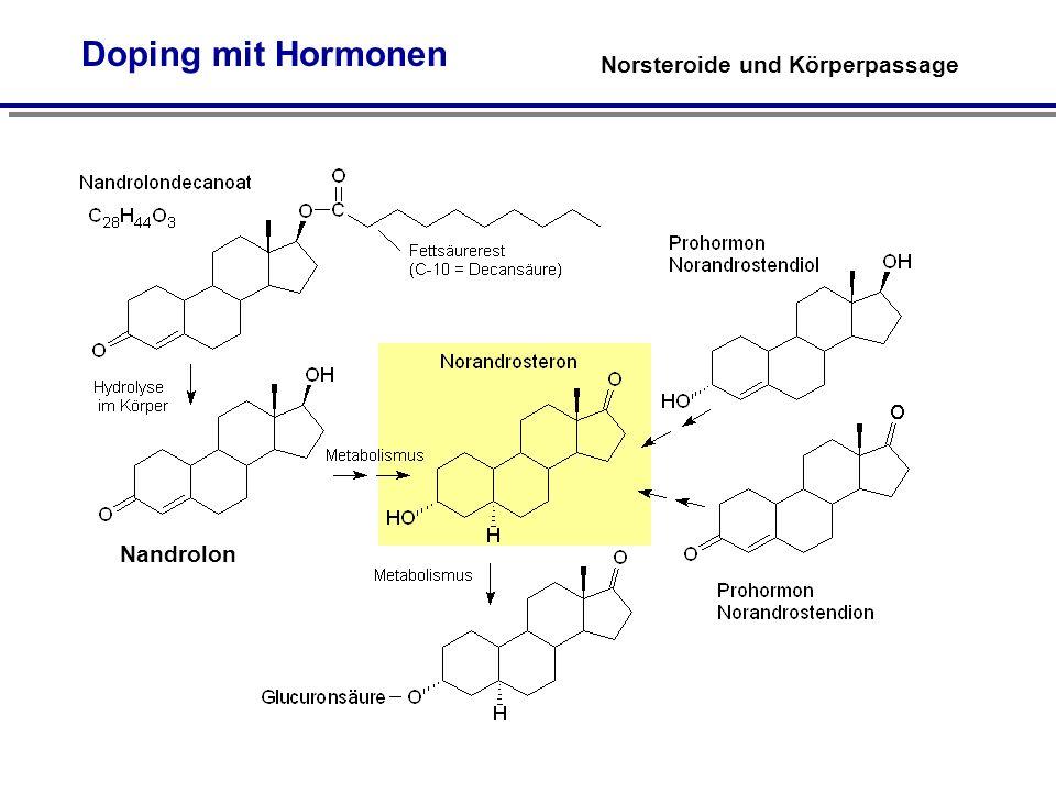 Doping mit Hormonen Norsteroide und Körperpassage Nandrolon