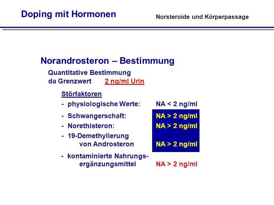 Norandrosteron – Bestimmung