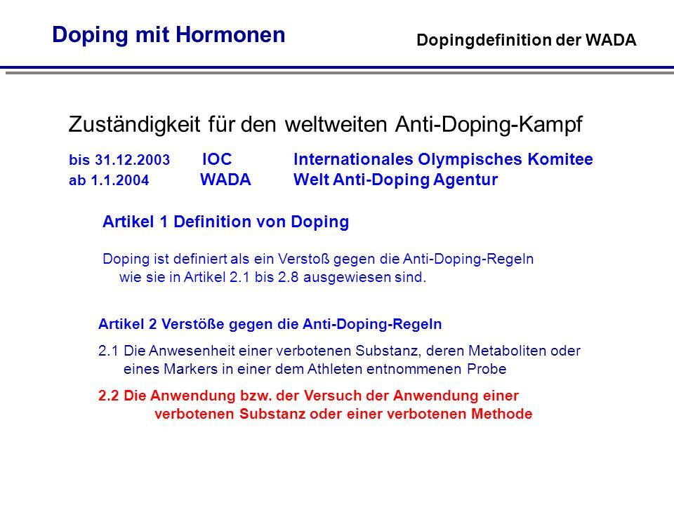 Zuständigkeit für den weltweiten Anti-Doping-Kampf
