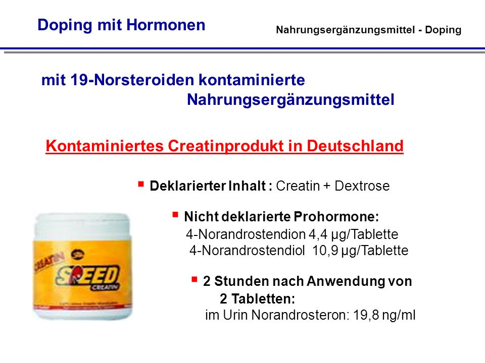 Kontaminiertes Creatinprodukt in Deutschland