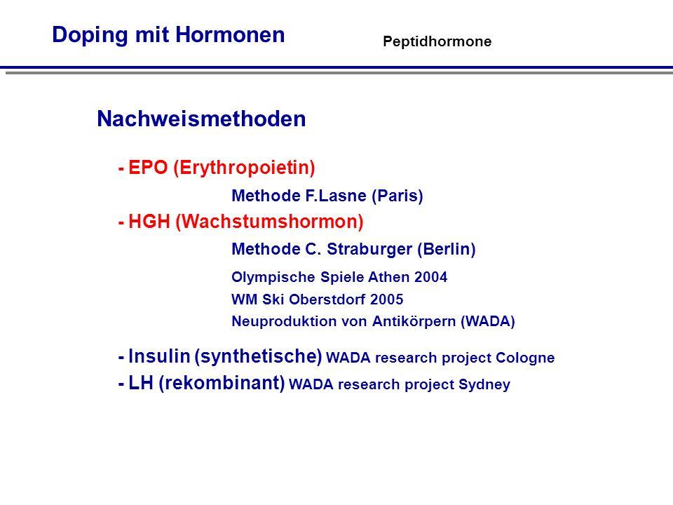 Doping mit Hormonen Nachweismethoden