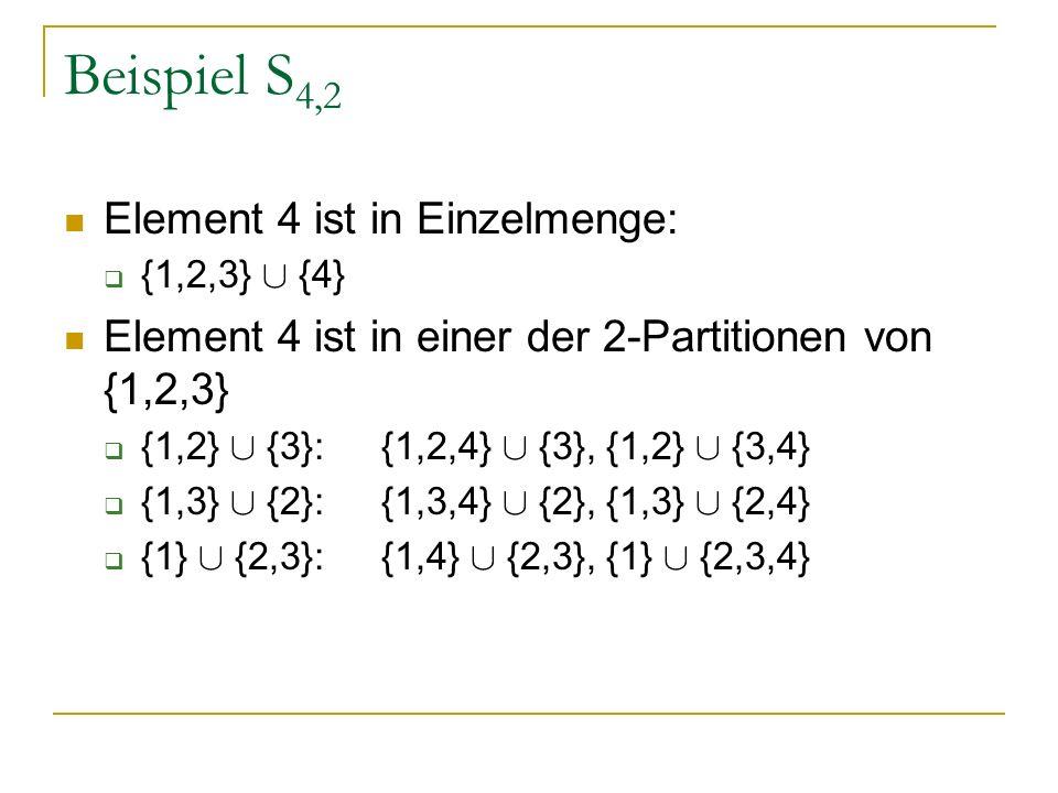 Beispiel S4,2 Element 4 ist in Einzelmenge: