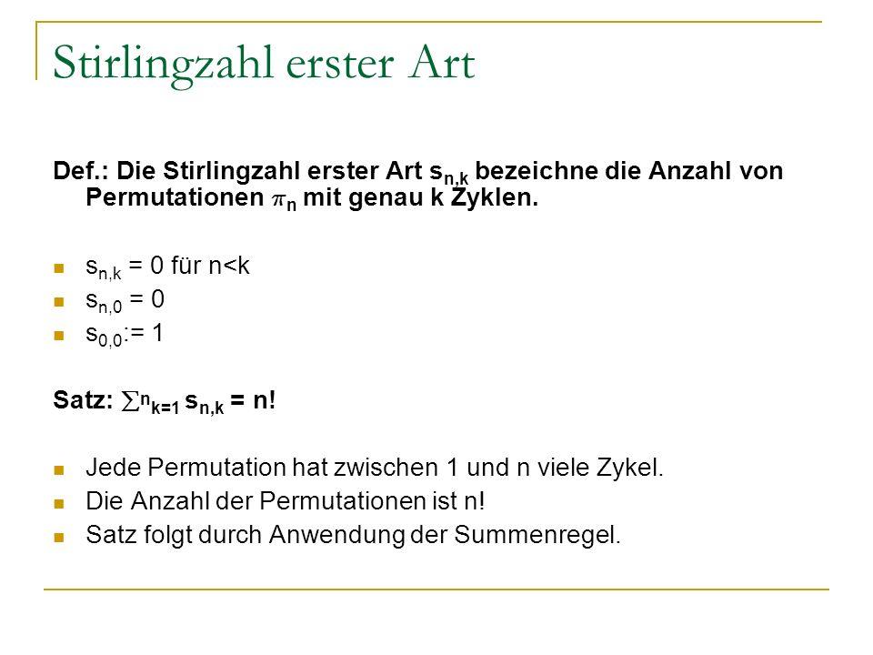 Stirlingzahl erster Art
