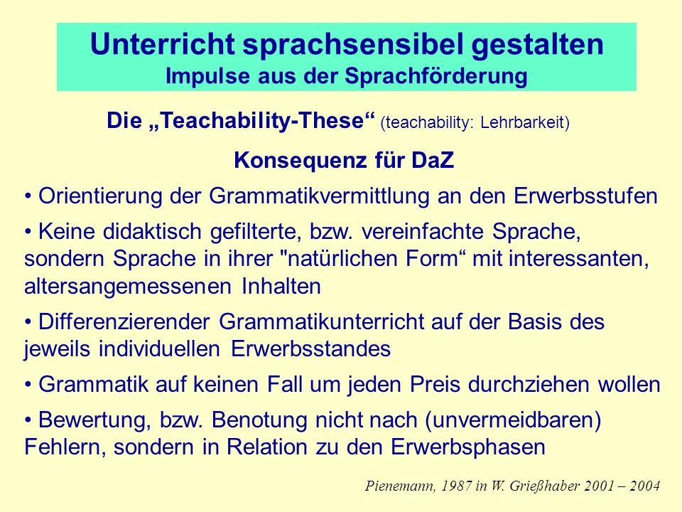 Unterricht sprachsensibel gestalten Impulse aus der Sprachförderung
