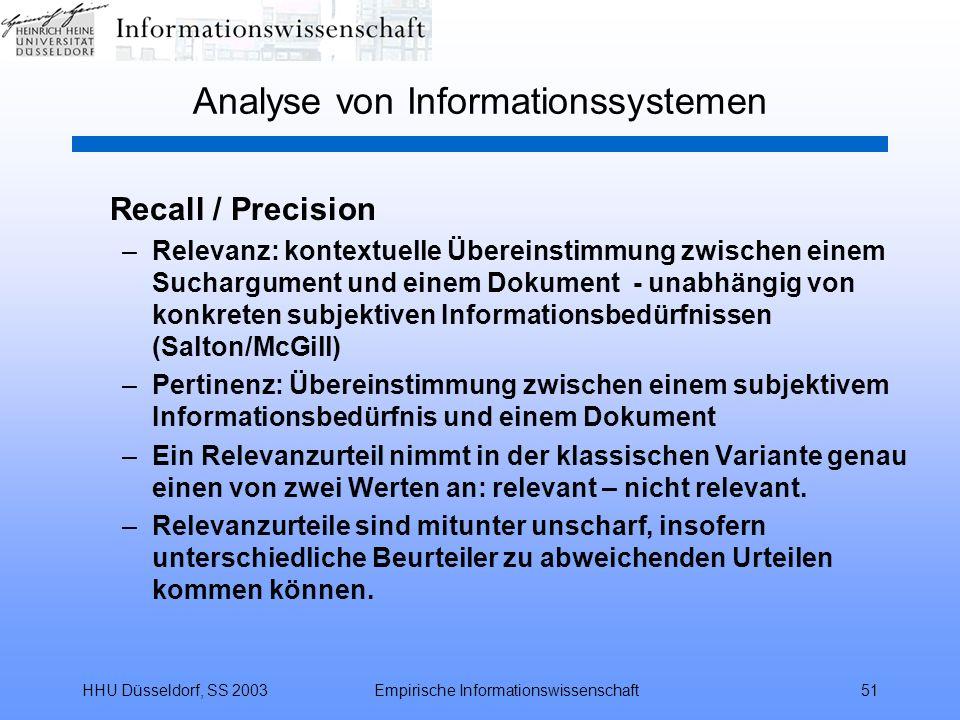 Analyse von Informationssystemen