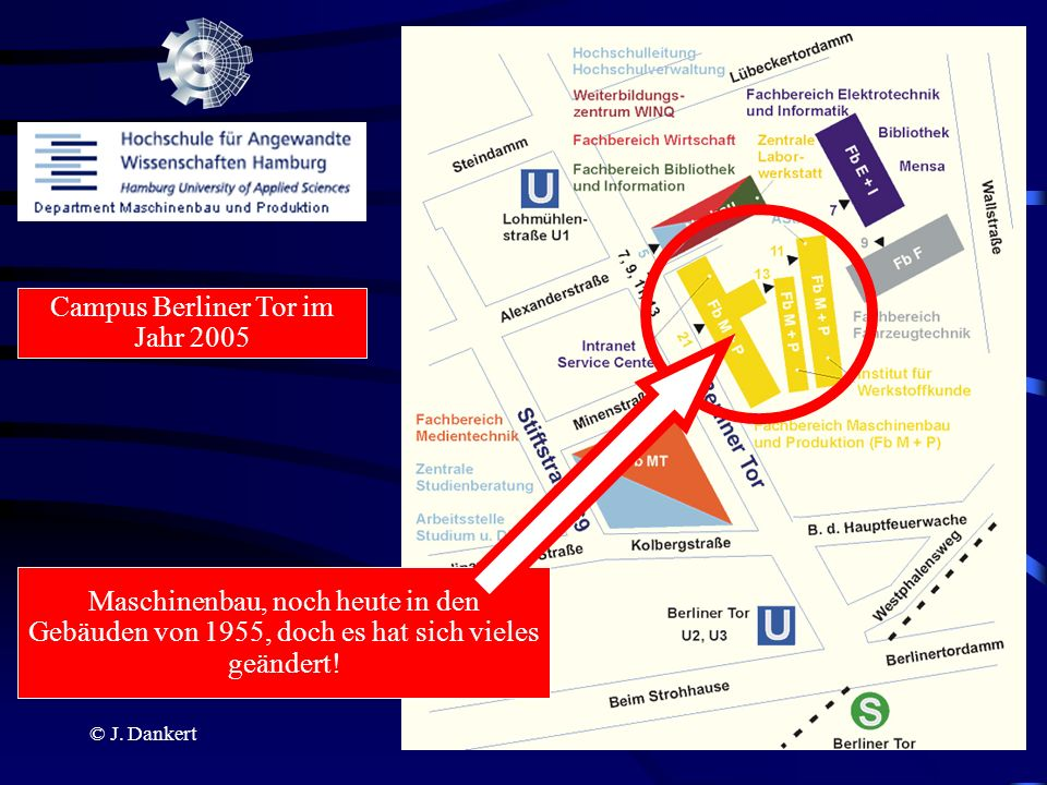 Campus Berliner Tor im Jahr 2005