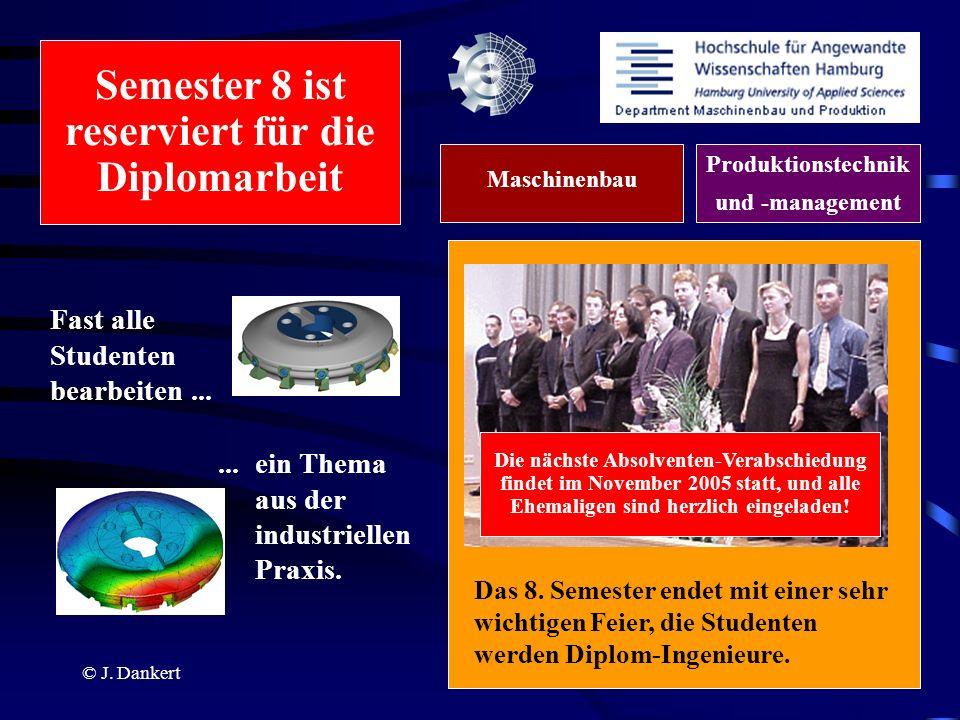 Semester 8 ist reserviert für die Diplomarbeit