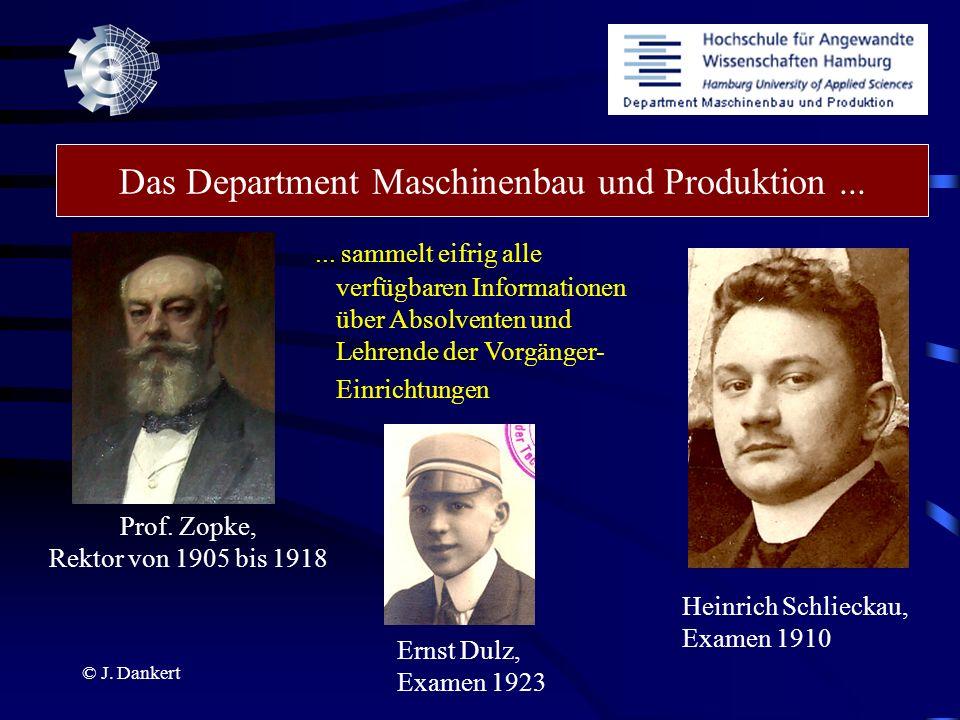 Das Department Maschinenbau und Produktion ...