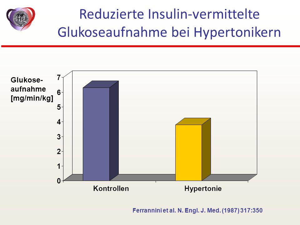 Reduzierte Insulin-vermittelte Glukoseaufnahme bei Hypertonikern