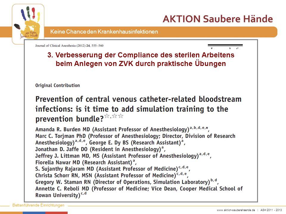 3. Verbesserung der Compliance des sterilen Arbeitens