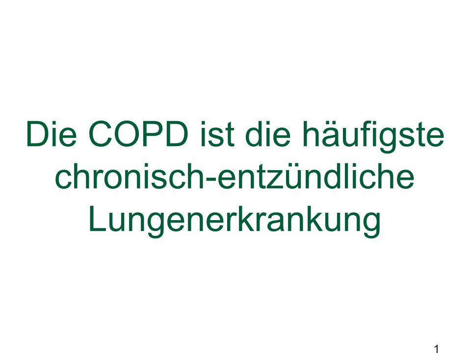 Die COPD ist die häufigste chronisch-entzündliche Lungenerkrankung