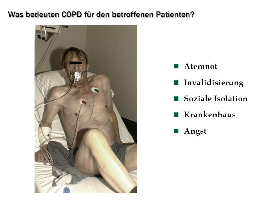 Was bedeuten COPD für den betroffenen Patienten