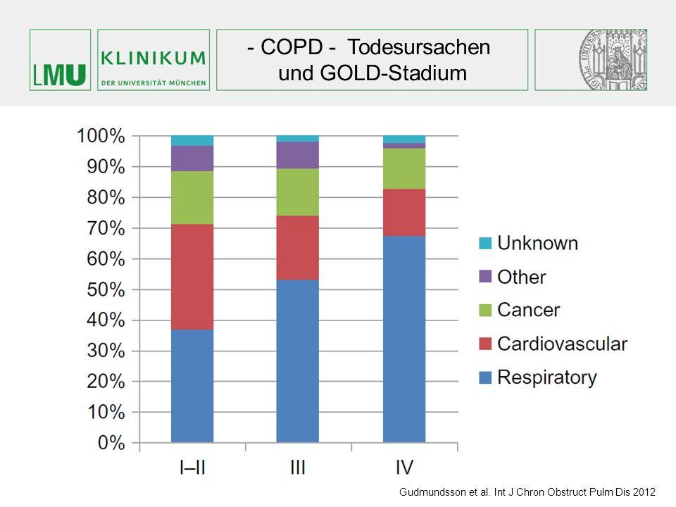 - COPD - Todesursachen und GOLD-Stadium