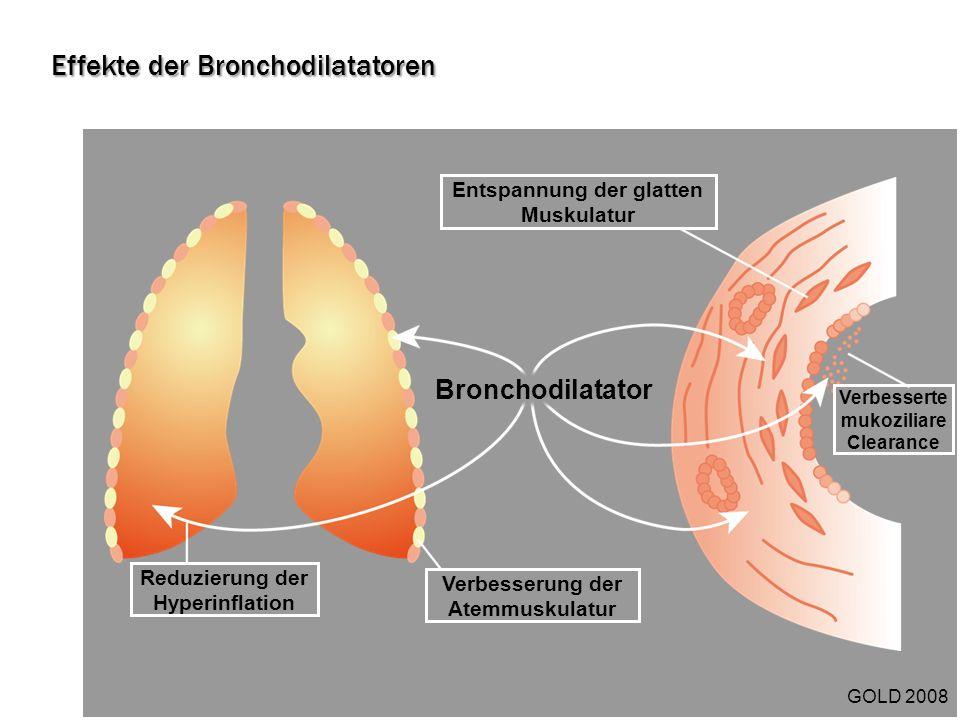 Effekte der Bronchodilatatoren