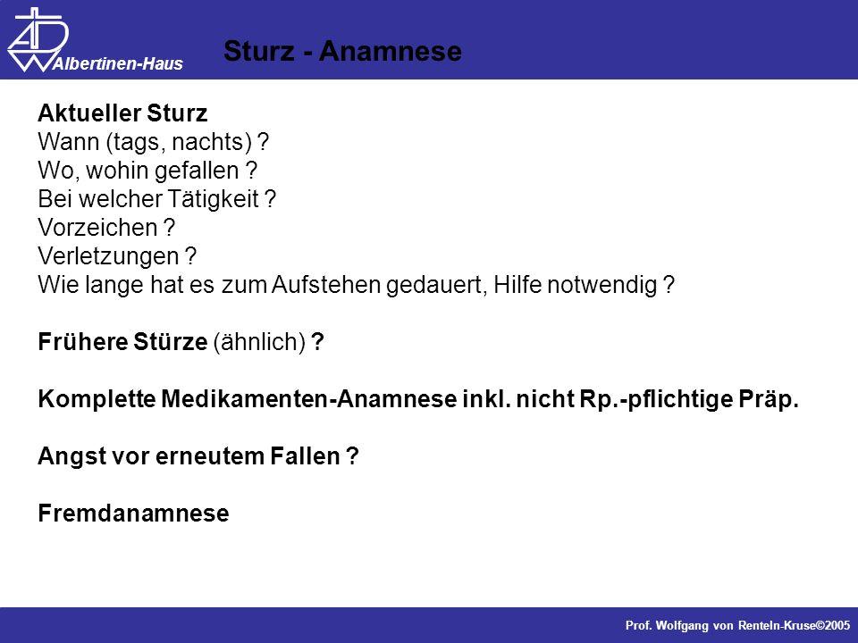 Sturz - Anamnese Aktueller Sturz Wann (tags, nachts)