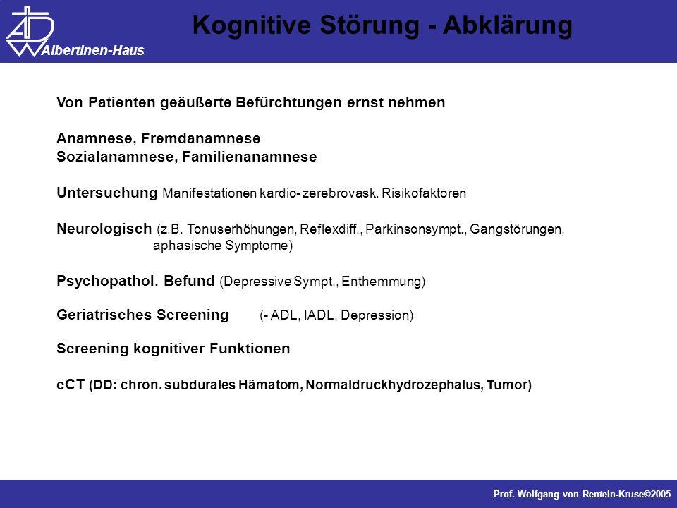 Kognitive Störung - Abklärung