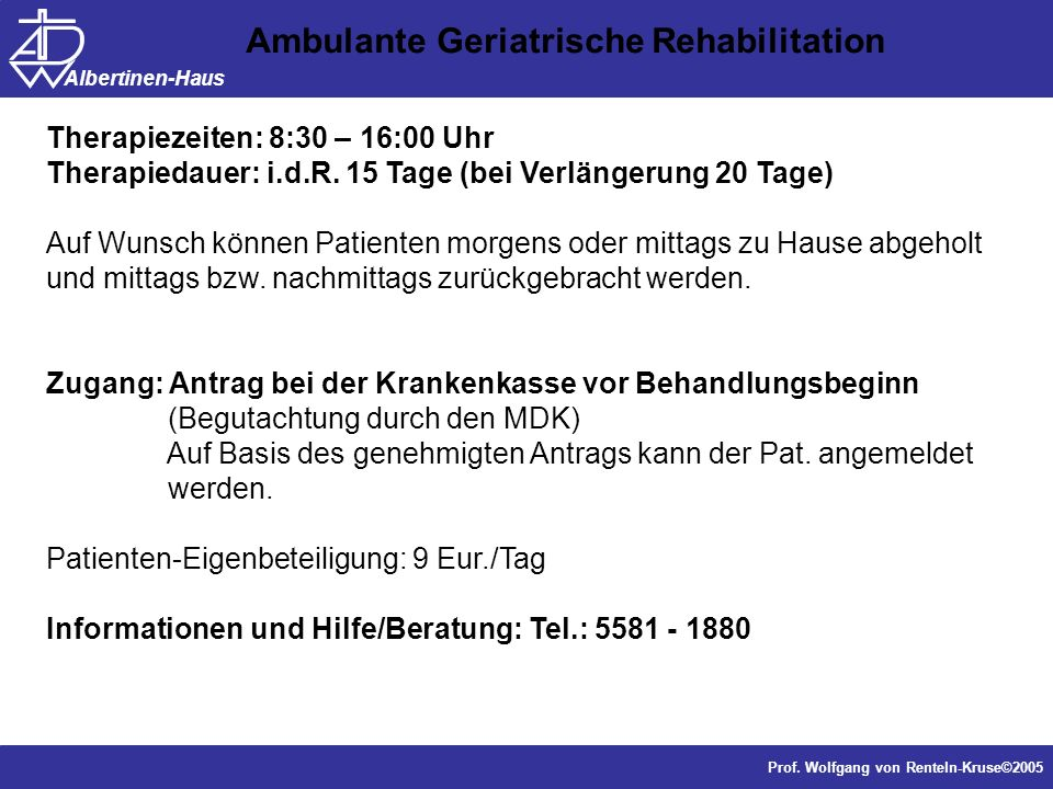 Ambulante Geriatrische Rehabilitation