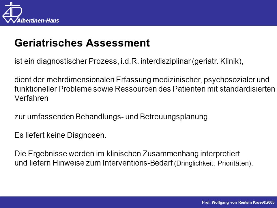 Geriatrisches Assessment