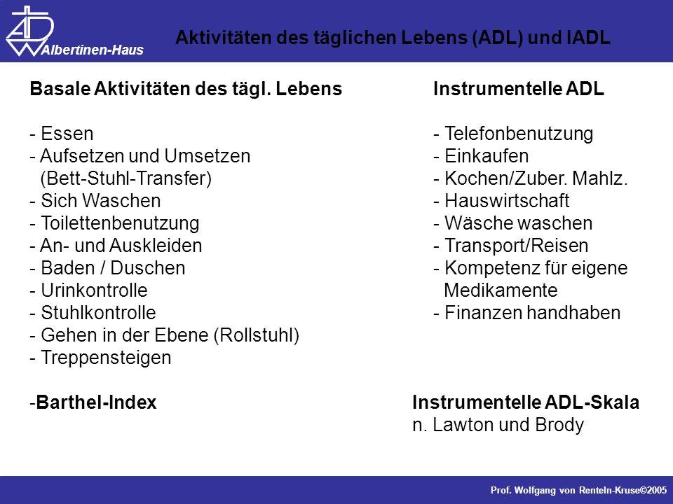 Aktivitäten des täglichen Lebens (ADL) und IADL