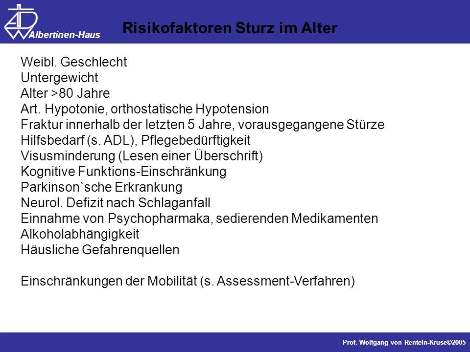 Risikofaktoren Sturz im Alter
