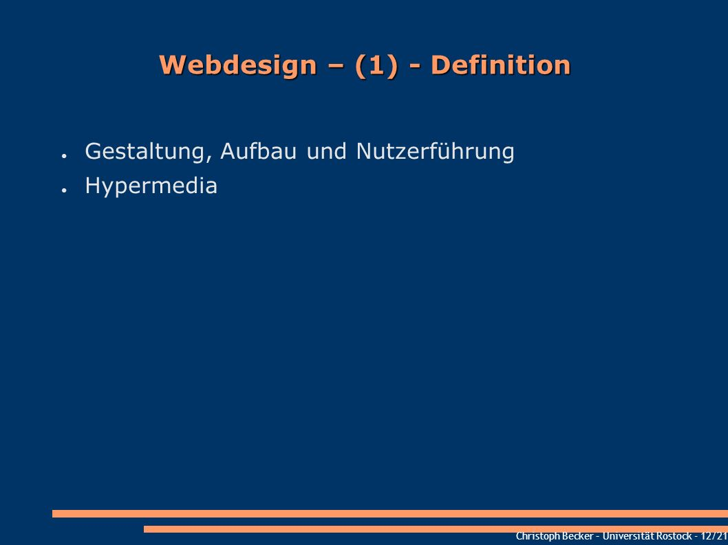 Webdesign – (1) - Definition