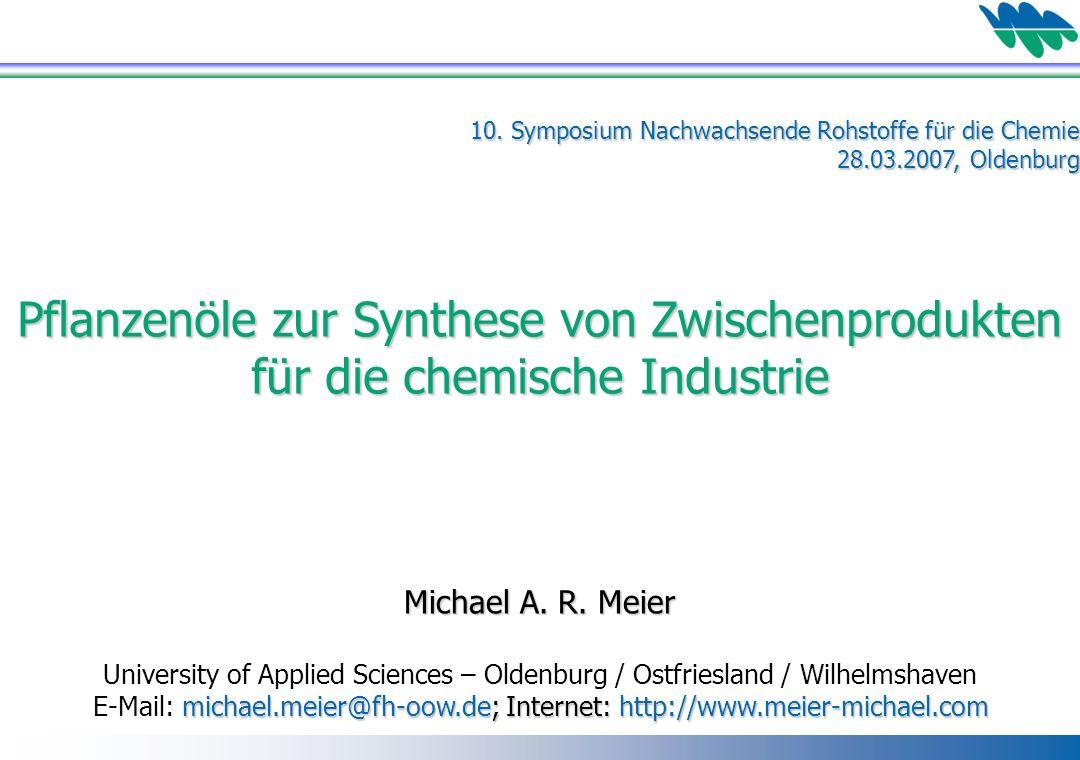 Pflanzenöle zur Synthese von Zwischenprodukten