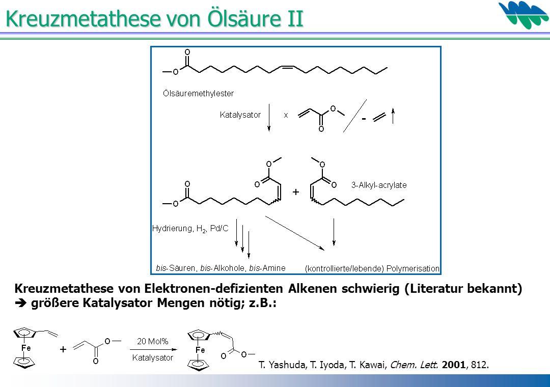 Kreuzmetathese von Ölsäure II