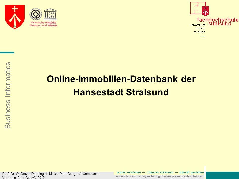 Online-Immobilien-Datenbank der Hansestadt Stralsund