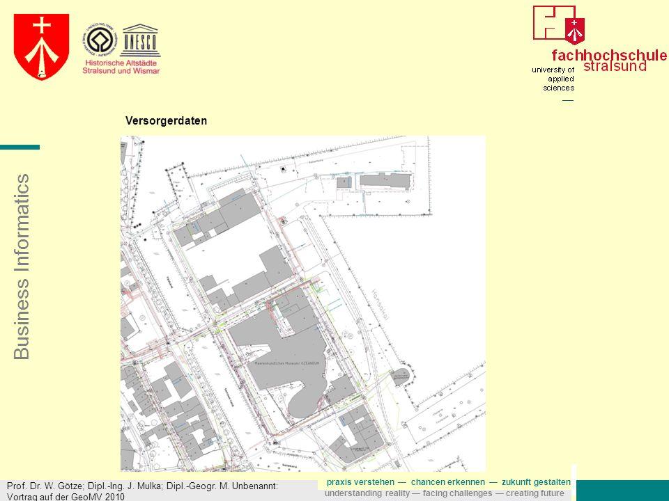 Versorgerdaten Prof. Dr. W. Götze; Dipl.-Ing. J.