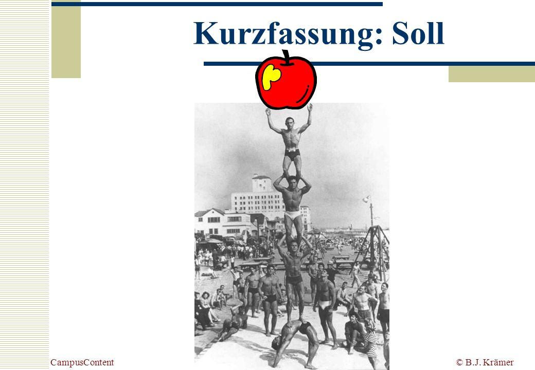 Kurzfassung: Soll CampusContent © B.J. Krämer