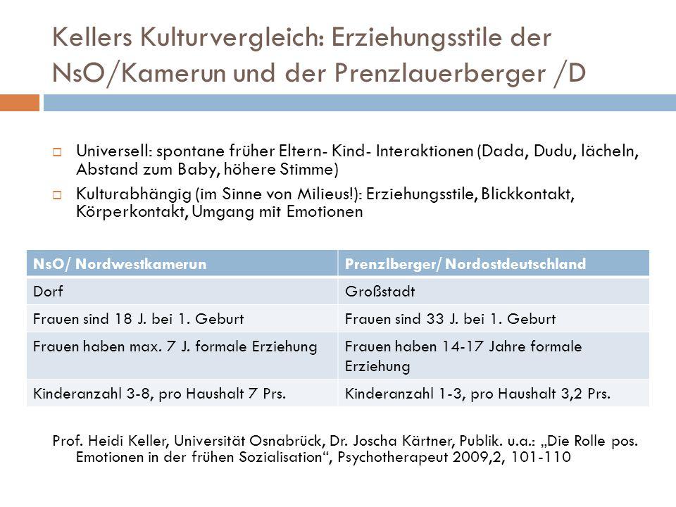 Kellers Kulturvergleich: Erziehungsstile der NsO/Kamerun und der Prenzlauerberger /D