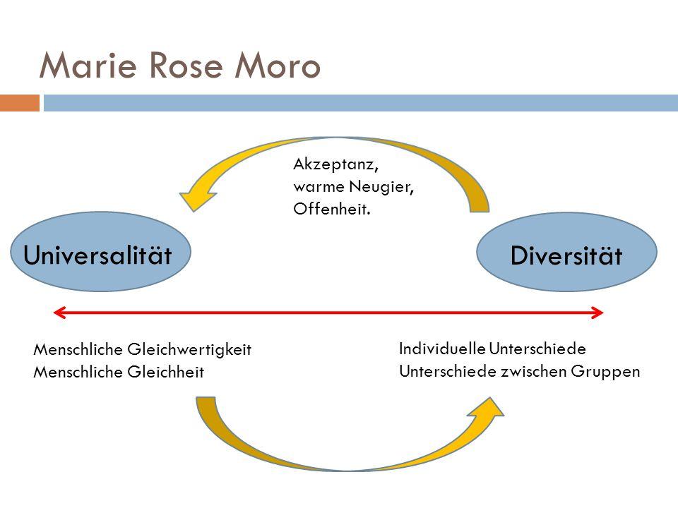 Marie Rose Moro Universalität Diversität Akzeptanz, warme Neugier,