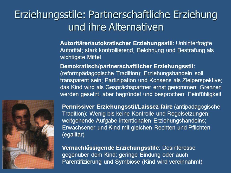 Erziehungsstile: Partnerschaftliche Erziehung und ihre Alternativen