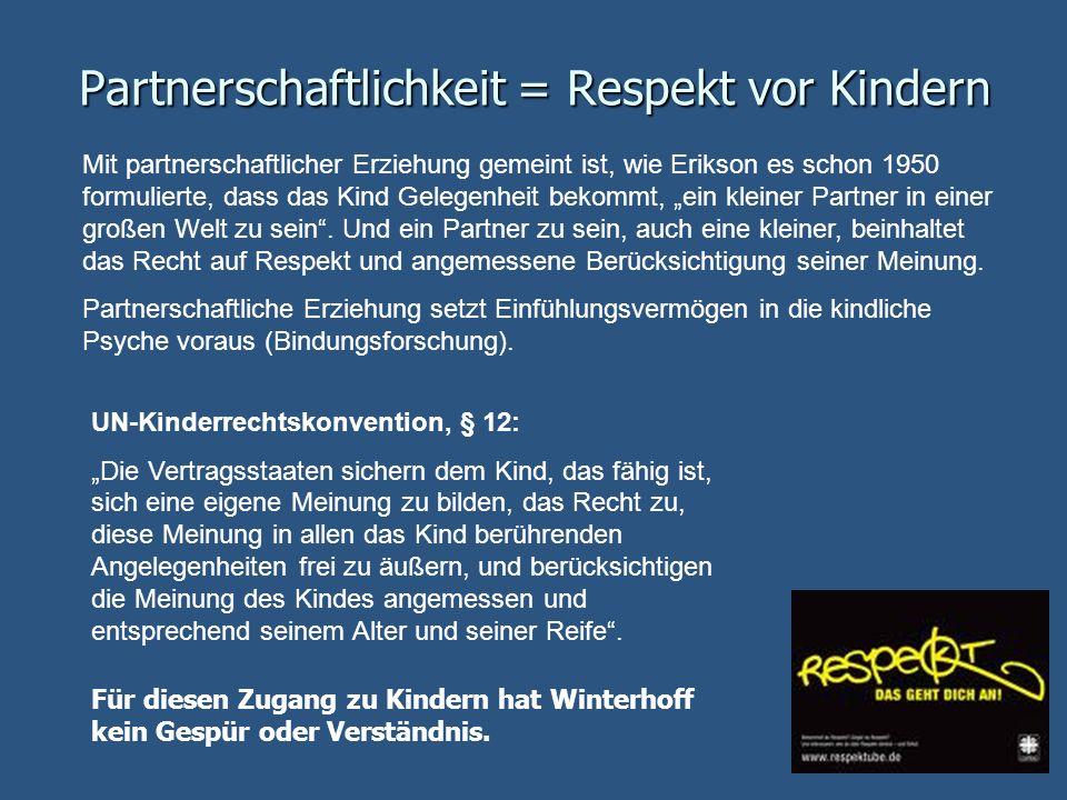 Partnerschaftlichkeit = Respekt vor Kindern