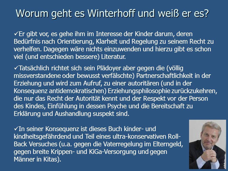Worum geht es Winterhoff und weiß er es