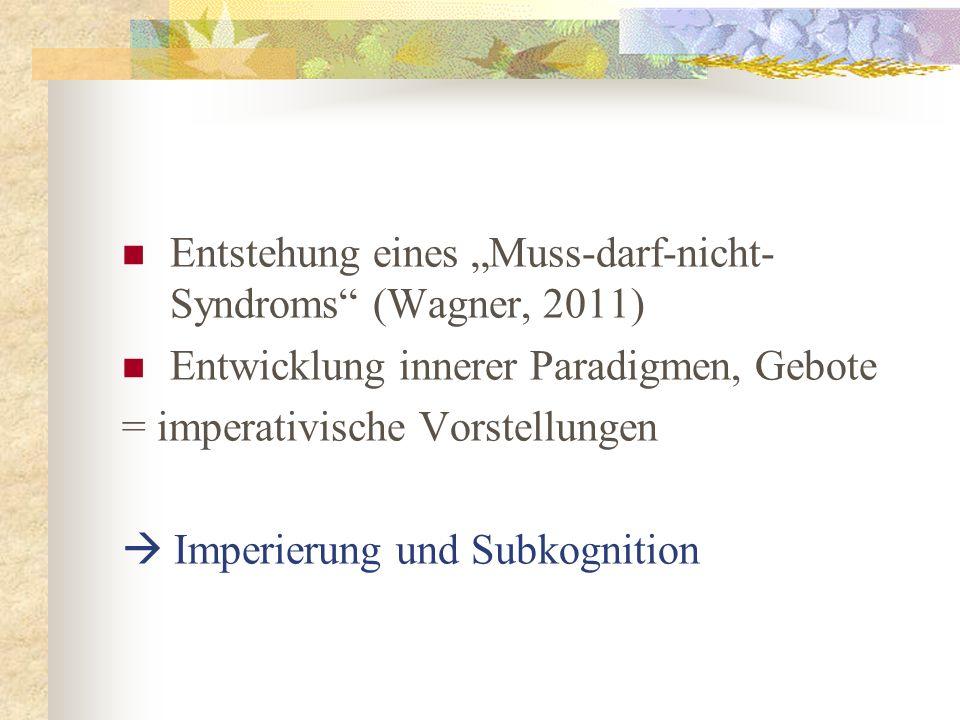"""Entstehung eines """"Muss-darf-nicht-Syndroms (Wagner, 2011)"""