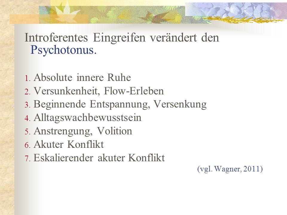 Introferentes Eingreifen verändert den Psychotonus.