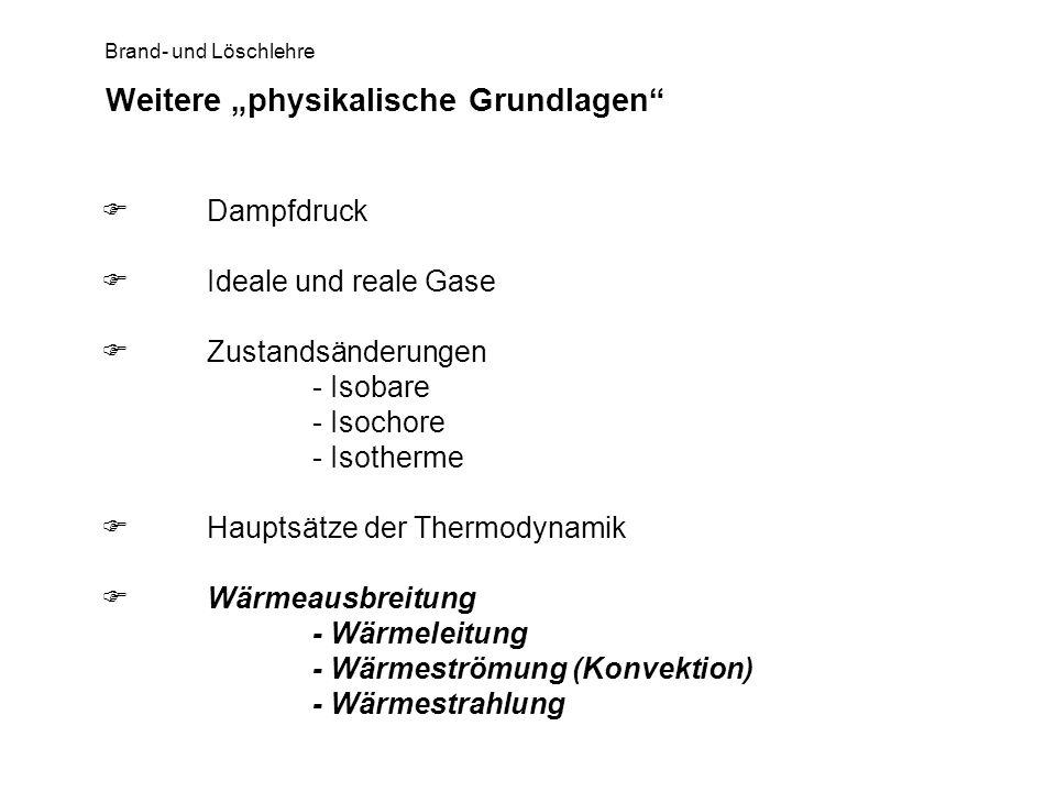 """Weitere """"physikalische Grundlagen"""