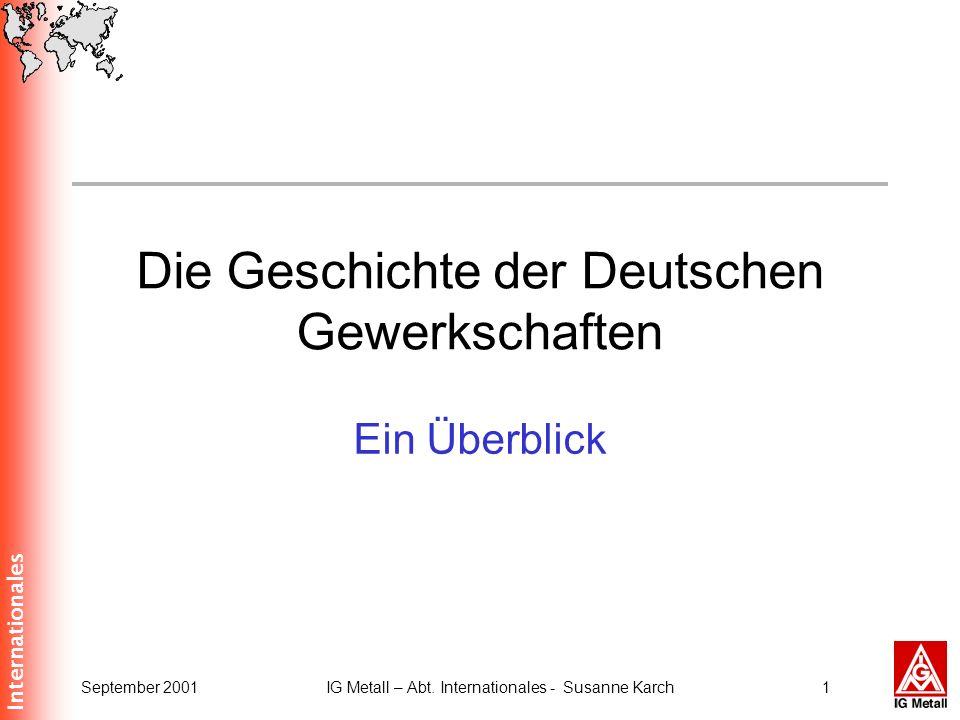 Die Geschichte der Deutschen Gewerkschaften