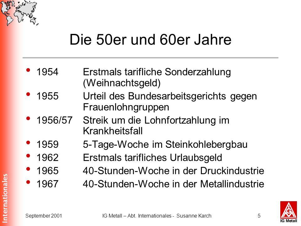 IG Metall – Abt. Internationales - Susanne Karch